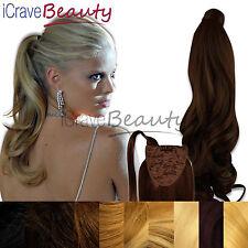 Clip in Ponytail Wrap Around Ponytail Hair Extension - Cascades - Wavy Hairpiece