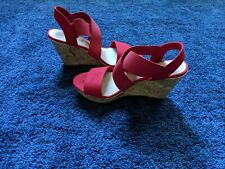 Red Sandal wedge size 7