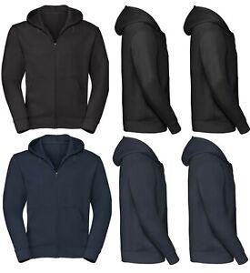 Mens Hoodies Zip Up Hooded Fleece Zipper Top Plain Jackets Warm Coat Jumper M-6X