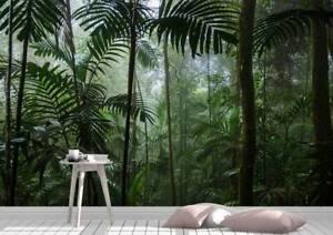 Tropical Jungle Forest Wall Mural Photo Wallpaper UV Print Decal Art Décor