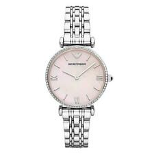 Armani AR1779 Mother of Pearl Silver Pink Gianni T-Bar Bracelet Women's Watch