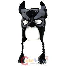 DC Comics Batman Mask Laplander Hat  Boys Beanie with Ear Flap and Eye Holes