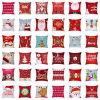 Roter Weihnachtskissenbezug 45cm * 45cm quadratischer Kissenbezug Weihnachten