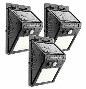 3x LED Solarleuchte Bewegungsmelder & Helligkeitssensor  3TGSOL-YF16 Trango