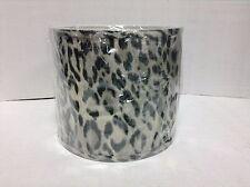 Ballard Designs Hudson Collection Table Bedside Light Lamp Shade Cheetah Print