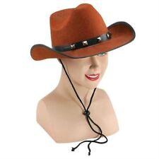 Cowboy Studded Hats Wild West Western Fancy Dress Mens Womens