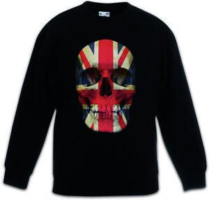 UNION JACK UK SKULL FLAG Kids Boys Girls Pullover Great Britain England MOD