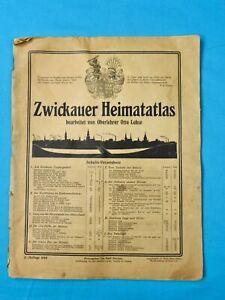 Antique Old Vintage 1920 German Germany Map Atlas Book Magazine