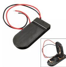 2pcs Interruttore ON/OFF 2x3V 6V CR2032 Batteria Pulsante Cellulare Titolare Pack 10cm Cavo UK