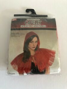 Red Riding Hood Womens Adult Fairytale Costume Accessory Capelet