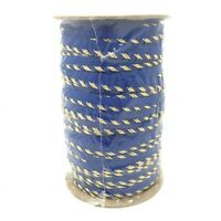 72 yard spool Metallic Lip Cord TRIM Piping Keyhole Twist Lurex ROYAL BLUE/GOLD