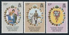1981 FALKLAND ISLANDS ROYAL WEDDING PRINCE CHARLES & DIANA SET OF 3 MINT MNH