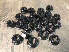 """3/8-24 black serrated flange nuts 25 pcs 3/4"""" flange"""