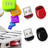 2TB 1TB Mini USB 2.0 Flash Drive Memory Stick - Lifetime WARRANTY