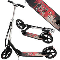 DEUBA® Cityroller Scooter Roller Kinderroller Kinder Tretroller Kinder Schwarz