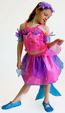 NEW Girls Kids Mermaid Costume Cosplay Pink and Turquoise Extra Large