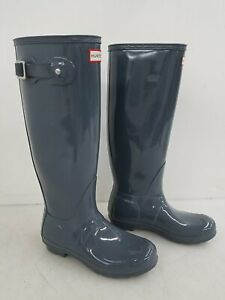 Hunter Original Tall Grey Rubber Rain Boot Women's 8