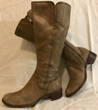 Timberland Khaki Mid Calf Leather Lovely Boots Size 4Uk (777QQ)