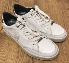 CRUYFF Mens White PUYI Lace Up Trainers Silver Back Logo Inner Sole Size 6UK