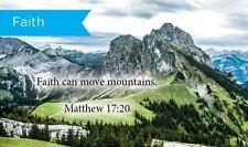 Pass Along Scripture Cards, Faith, Matt 17:20, Pack 25
