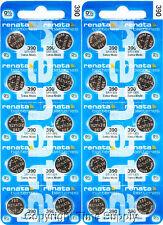 20 pc 390 Renata Watch Batteries SR1130SW FREE SHIP 0% MERCURY