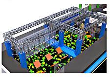 1,500 sqft Ninja Warrior Course Trampoline Park Foam Inflatable Gym We Finance