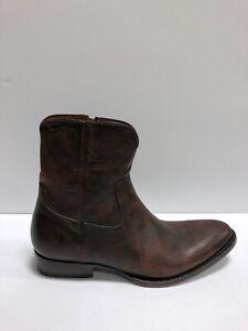 Frye Men's Austin, Inside Zipper Western Boots-Brown, Size 9.5 D