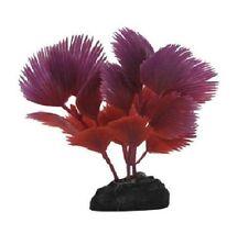 Fan Palm Plant Red Aquarium Ornament - Small - PPBT16 - Penn Plax