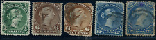 Canada #24/28 used Faults 1868 Queen Victoria Large Queen Part Set CV$330.00