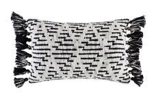 NEW KAS Easton Black Rectangle Tassel Cushion RPR $59.95