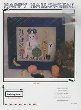 Ladybug Lane - Happy Halloween  w/ ladybug button Cross Stitch Pattern