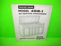 Rock Ola Model 468-1 Grand Salon Original Jukebox Phonograph Diagrams Schematic