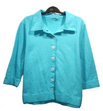 NEW FRESH PRODUCE Sky Blue Sweatshirt Jacket sz L 3/4 Sleeves 100% Cotton