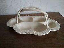 Antique Leeds Pottery Creamware Oyster Dish Basket egg holder ?