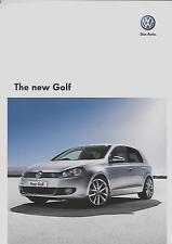 VW GOLF S 1.4, S 1.6, S/SE 1.4, GT 1.4, S/SE & GT  BROCHURE DEC. 2008 FOR 2009