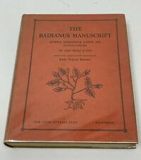 The Badianus Manuscript 1940 Johns Hopkins Press Excellent Condition Hc/Dj