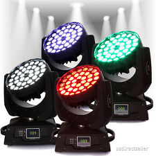 4PCS 36x10W RGBW (4in1) LED Zoom Moving Head Wash Light DMX Stage Show Party