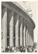 WWII GERMAN Large 1936 OLYMPIC Sports Photo Image- Olympic Stadium- Flags