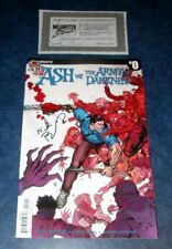 ASH vs THE ARMY OF DARKNESS #0 signed 1st print DYNAMITE EVIL DEAD NICK BRADSHAW