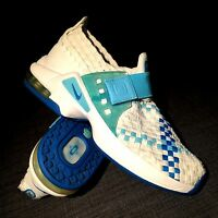 RARE VINTAGE NIKE RETRO AIR MAX BOX WEAVE white blue trainers Sz 7 US 38 EUR