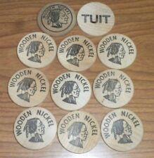 11 Vintage Wooden Nickels Cookie Rock Market ~ TUIT ~ 1978 Re-Elect  Assessor XX