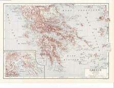 1910 Map of (ancient) Greece/