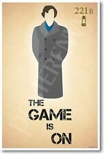 Sherlock Holmes - The Game Is On - NEW Humorous Character Poster
