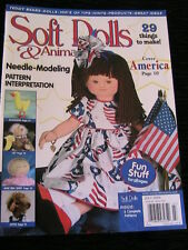 SOFT DOLLS & ANIMALS~July 2004 cloth doll patterns~techniques, tips, magazine