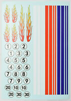 """9 Other Colors Waterslide Decals Arial Narrow White Letters 2/""""x3/"""" Decal Sheet"""