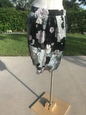 LOVE MOSCHINO SILK FLOWER PRINT SKIRT Sz 8 MADE IN ITALY NWT $288.00