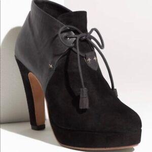 Rag & Bone Round Toe Platform Tassel Ankle Booties Size 41 IT 11 US Lovell