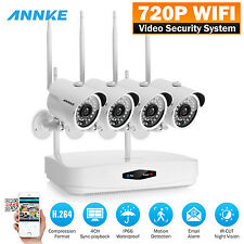 ANNKE Wifi 4CH HDMI NVR 4x 720P HD IR Video Night Vision Security Camera System