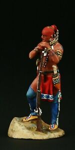 Tin soldier, Collectible, Iroquois Warrior 54 mm, American Natives