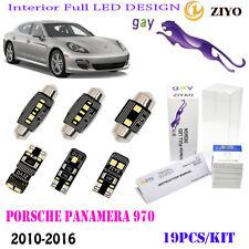 19Pcs LED Interior Light Kit Cool White 6000K Fit 2010-2016 Porsche Panamera 970